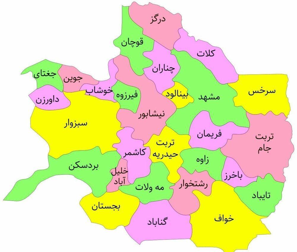 برترین محصولات خراسان رضوی   آمار کشت استان